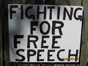 fighting for free speech