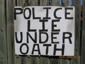 police lie under oath