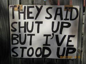 they said shut up