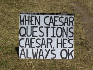 when caesar questions