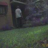 Looking in porch door
