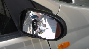 car mirrow Craig busted