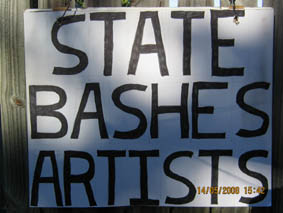 state bashes artists
