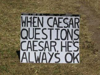 when caesar questions